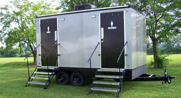 Executive Restroom Trailers Portable Toliet Trailers John's Custom Mobile Bathroom Rental Decor
