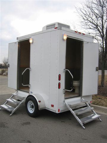 Executive Restroom Trailers 8 Foot Portable Toilet