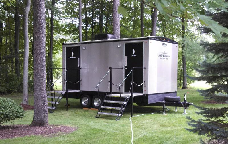Porta John Trailer : Executive restroom trailers portable toliet
